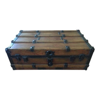 Low Steamer Trunk Coffee Table