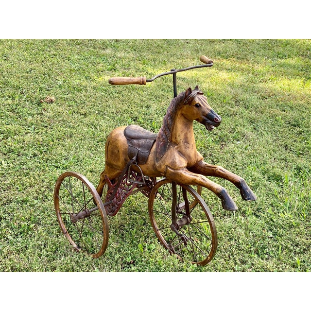 Folk Art Child's Bicycle in the Shape of a Horse For Sale - Image 10 of 10
