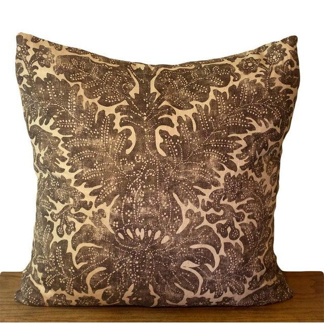 Boho Chic Ralph Lauren Linen Batik Pillow Covers - a Pair For Sale - Image 3 of 5