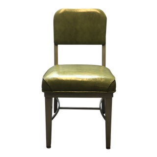 Vintage Lime Green Vinyl Side Chair For Sale