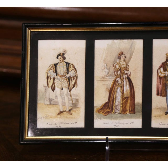 """19th Century French King of France Framed Color Prints """"Set of Three"""" For Sale In Dallas - Image 6 of 12"""