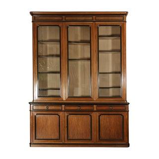 French Walnut Bureau Bookcase With Ebonized Trim and Original Glazing, Circa 1860 For Sale