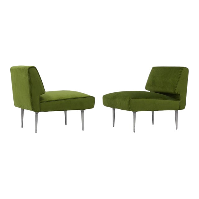 Pair of Lounge Chairs by Edward Wormley for Dunbar For Sale