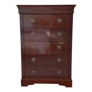 Grange Louis Philippe Collection 6-Drawer High Chest For Sale