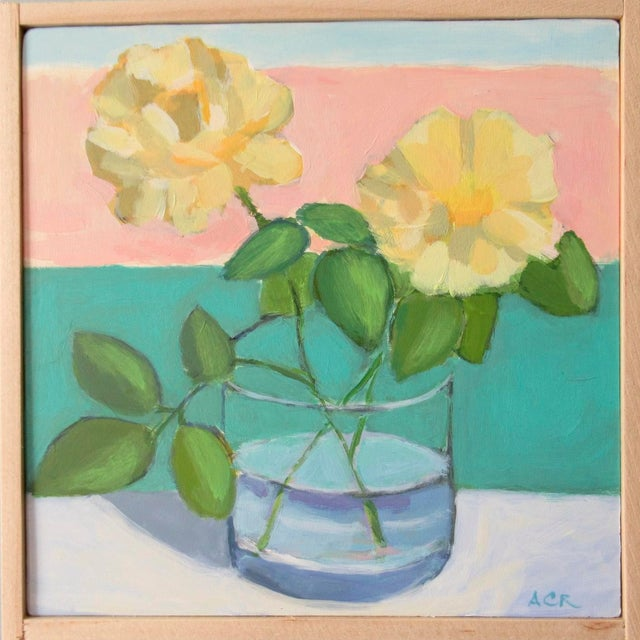Yellow Roses by Anne Carrozza Remick For Sale