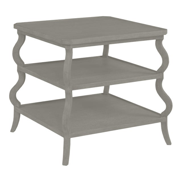 Traditional Abbott Tiered Side Table, Chelsea Gray For Sale - Image 3 of 3