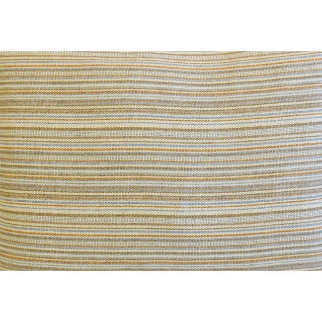 "Scalamandre Scottish Hodsoll McKenzie Wool Stripe & Scalamandre Velvet Feather/Down Pillows 22"" X 16"" - Pair For Sale - Image 4 of 12"