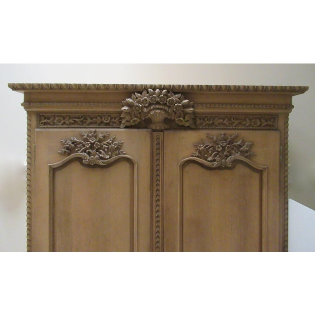 Late 18th Century Early 20th Century French Louis XV Style Carved Mahogany Wood Wall Cabinet/Armoire For Sale - Image 5 of 13