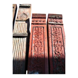 Ornate Cast Iron Building Pilasters - Set of 3