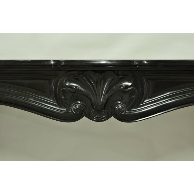 Louis XV Black Marble Louis XV Fireplace Mantel, 19th Century For Sale - Image 3 of 8