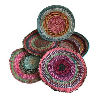 Boho Chic Round Placemats - Set of 6 For Sale