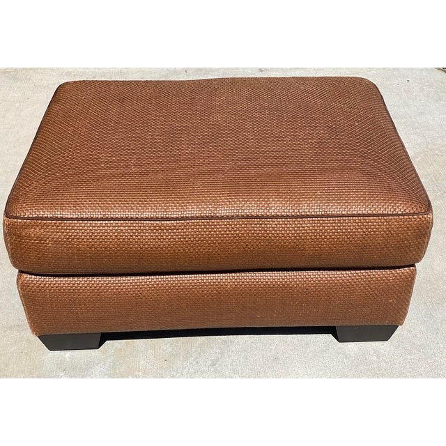 Donghia ottoman from a Rancho Santa Fe estate filled with high-end furniture. The rich color and texture is great for any...