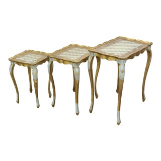Vintage Florentine Stacking Tables S\3 For Sale