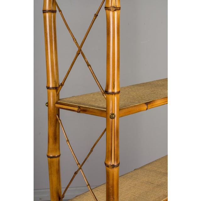 Bamboo Mid-Century French Bamboo & Rattan Etagere For Sale - Image 7 of 11