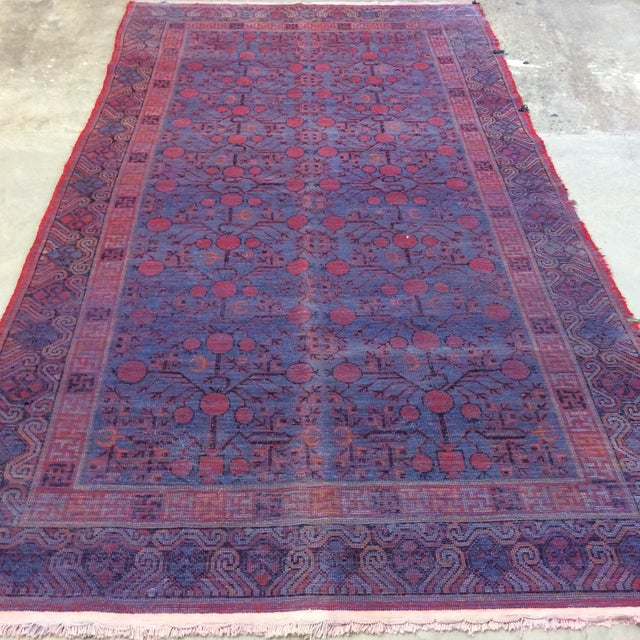 "Antique Chinese Khotan - 5'6""x 10'3"" For Sale - Image 10 of 13"