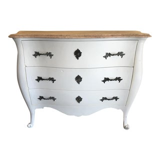 Marble Top French Country Chest For Sale