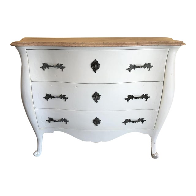 Marble Top French Country Chest - Image 1 of 10