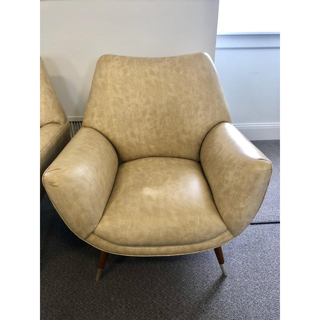 Mid-Century Club Chairs - A Pair For Sale - Image 9 of 10