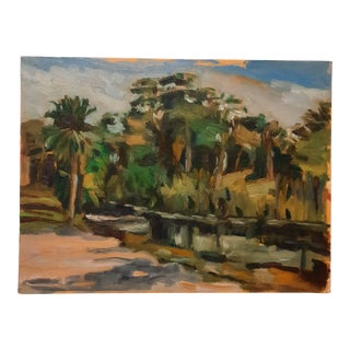 Johann Grobler Riverbend Park #2 Painting For Sale