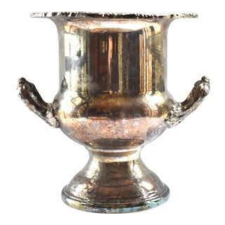 Mid-Century Silver Plate Champagne Bucket For Sale