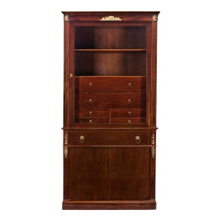 Jacob Frères Empire Mahogany and Gilt Bronze Mounted Secretary Bookcase