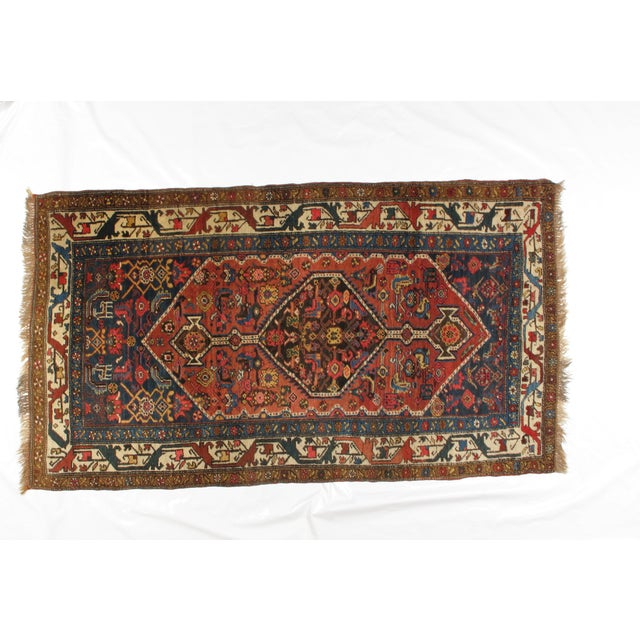 Antique Bijar Woven Wool Rug - 4′ × 7′ - Image 2 of 4