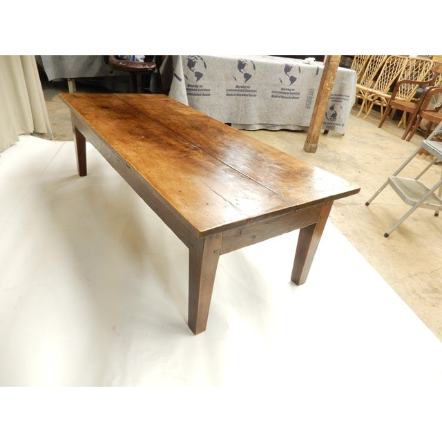 Farmhouse 19th C. French Walnut Farm/Coffee Table For Sale - Image 3 of 6