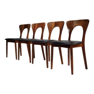 Peter Chairs by Niels Koefoed in Rosewood - Set of 4 For Sale