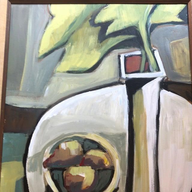 Original Contemporary Stewart Ross Modernist Still Life Painting Vintage Frame For Sale - Image 4 of 6