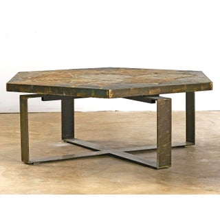 Stone Slate & Iron Coffee Table Preview