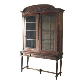 19th Century French Louis XVI Mahogany Bookcase ~ Vitrine For Sale