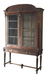 Image of Brown China and Display Cabinets