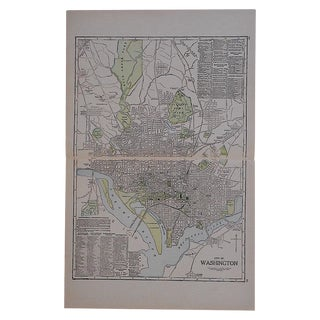 City Map Lithograph - Washington, DC For Sale
