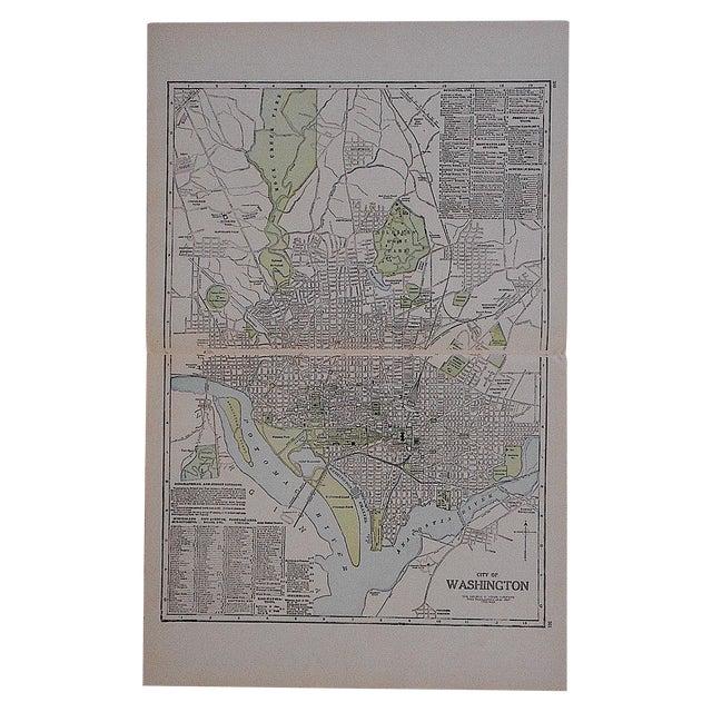 City Map Lithograph - Washington, DC For Sale