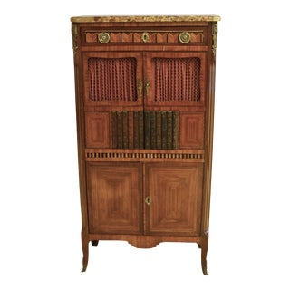 1910s LXV Marquetry and Parquetry Cabinet For Sale