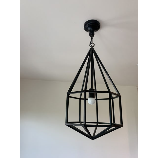 Contemporary Contemporary Black Teardrop-Shape Lanterns - a Pair For Sale - Image 3 of 9