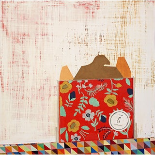 """Sydney Licht """"Still Life With Stationery #1"""" Colorful Abstract Painting on Canvas For Sale"""