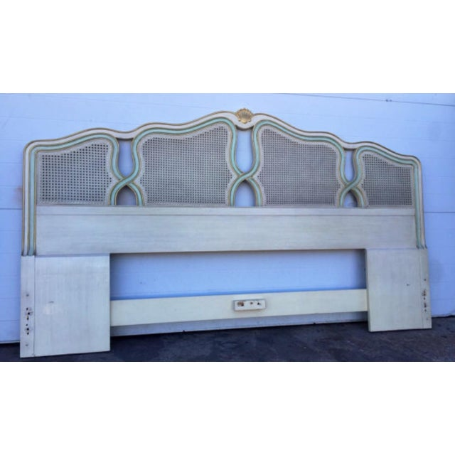 Vintage Shell Carved King Size Headboard - Image 4 of 6