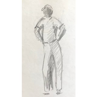 Mid-Century Drawing of a Man, C. 1950 For Sale