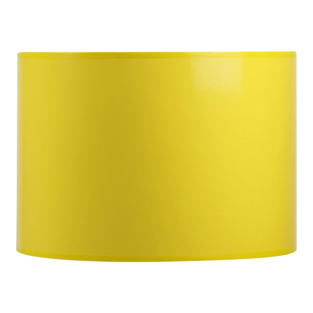 High Gloss Yellow Drum Lamp Shade For Sale