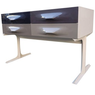 Raymond Loewy Free Standing Low Two-Sided Cabinet Df2000 For Sale