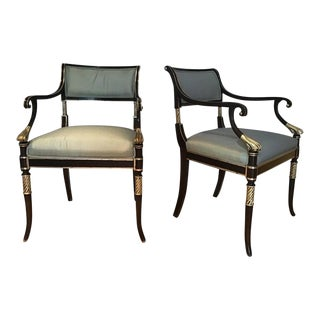 Pair of Regency Style Karges Armchairs For Sale