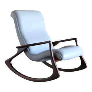 1950s Vintage Vladimir Kagan Sculpted Rocking Chair For Sale