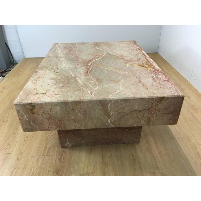 Substantial Rectangular Marble Cocktail Table For Sale - Image 4 of 7