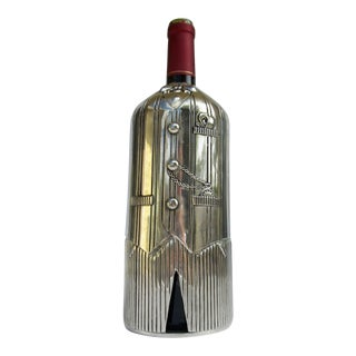C.1970s Vintage Silver Plate Sommelier Wine Butler Bottle Holder/Server For Sale