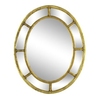 Vintage Friedman Bros the Burnside Adams Regency Gilt Wood Oval Mirror For Sale