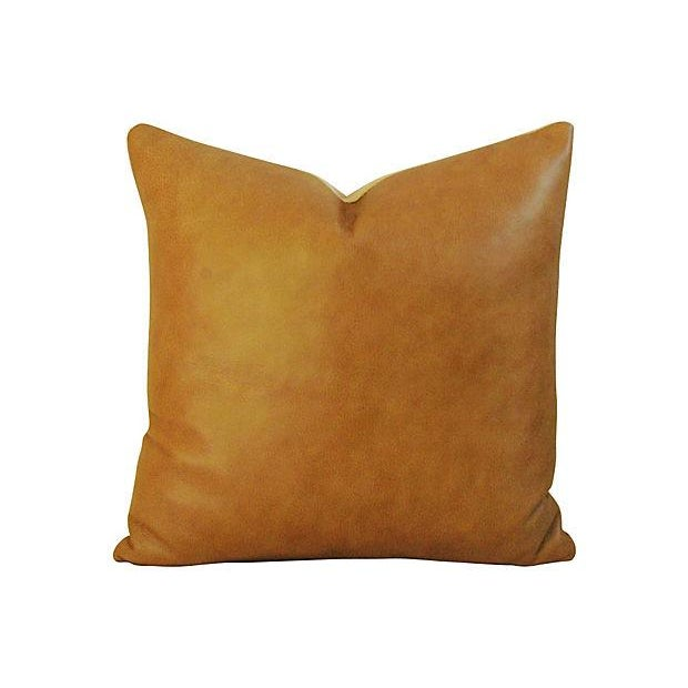 Genuine Italian Leather Pillows - Pair - Image 4 of 5