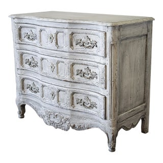 Vintage Baker Painted Commode Three-Drawer Chest For Sale