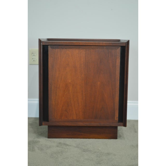 Brown Milo Baughman for Dillingham Mid Century Modern Walnut Nightstand For Sale - Image 8 of 13
