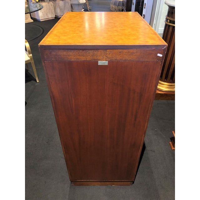 Hollywood Regency Maitland-Smith Carved & Tooled File Cabinet For Sale - Image 10 of 13
